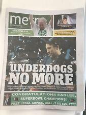 Philadelphia Eagles Metro Newspaper Nick Foles! Super Bowl LII 2/5/18