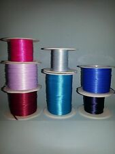 """1/16"""" Double Faced Woven Satin Ribbon 5 yard lots 20 colors Miniature Craft"""