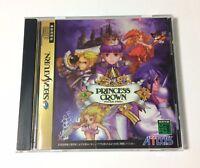 USED Sega Saturn PRINCESS CROWN JAPAN import Japanese game