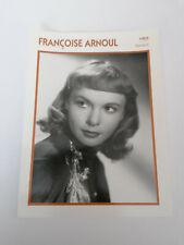 Francoise Arnoul - Fiche cinéma - Portraits de stars 13 cm x 18 cm