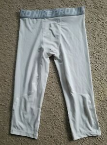 YOUTH BOYS NIKE PRO DRI FIT COMPRESSION TRAINING CROPPED TIGHTS SZ L NICE