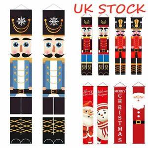 Nutcracker Soldier Banner Merry Christmas 2021 Xmas Door Home Decor Ornament UK