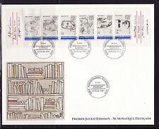 grande enveloppe 1er jour   bande personnages     ; 1991