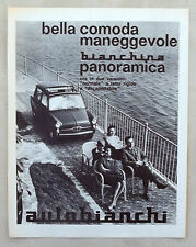 E286-Advertising Pubblicità-1963 - AUTOBIANCHI BIANCHINA PANORAMICA