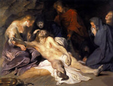 Huge Oil painting Peter Paul Rubens - The Lamentation The Death of Christ canvas
