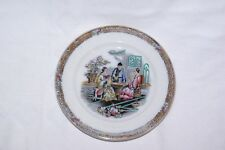 "Antique Handfinished 7.75"" Plate Canton Chinoiserie Pattern B & D"