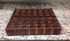 "Cutting Board 3"" Thick Walnut Butcher Block End Grain 16 X 20 Pattern Board"