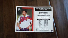 1994 UPPER DECK WORLD CUP RARE HOTLINE SCHEDULE CARD EDIN JESS SCOTLAND SGA