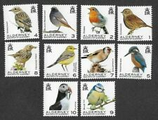 Alderney-Birds set to 1-10p value mnh  (issue date 21.1.2020) - **see below**