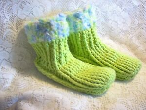 """New hand crocheted slippers 8.5"""" L"""