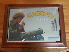 VINTAGE ADVERTISING CAMEL CIGARETTE LIGHT UP SIGN MIRROR LIGHTED