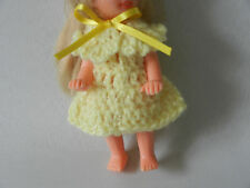Yellow Dress fits Baby Kelly from Barbie family and fits other small dolls also