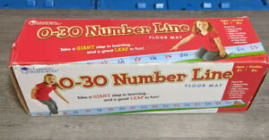 Learning Resources 0 to 30 Number Line Floor Mat, 22 x 1 Feet