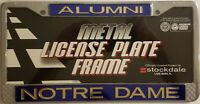 "NOTRE DAME FIGHTING IRISH ""ALUMNI"" Metal License Plate Frame, NCAA Product"