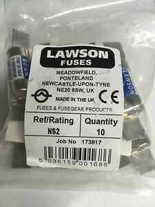 LAWSON Fuse NS2 2A BS88 415V Cartridge Fuse Link JPSF824 VAT Invoice