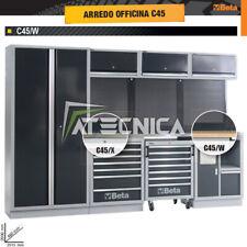 Allestimento arredo officina Beta C45/W piano in legno L2000 cassettiera serviz