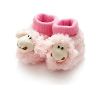 chaussons rose bebe mouton mignon fourrure + tricot tres doux cadeau naissance