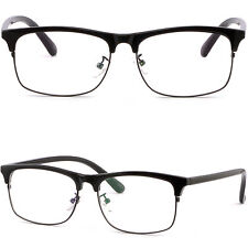 Plastic Browline Frame Prescription Glasses Photochromic Lenses Sunglasses Black