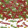 Merry Christmas Confetti Table Scatter Party Decorations Sprinkles Red Green