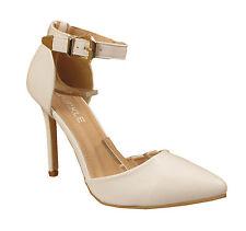 Señoras para mujer Sandalias De Tiras Zapatos Taco Aguja Taco Alto Hebilla Correa en el Tobillo Puño Zapatos