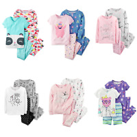 NWT Carters Toddler Girl 4-Pc Cotton Pajama Sets Ballerina Besties Dance 2T - 5T