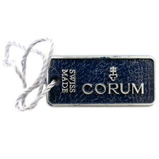 AUTHENTIC CORUM SWISS MADE BLUE WATCH HANG TAG IN GREAT CONDITION