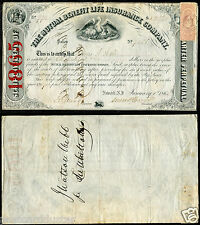 *A01 - JAMES WATSON WEBB Diplomat General 1865 Autograph on Document ...(3-17)
