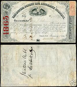 *A01 - JAMES WATSON WEBB Diplomat General 1865 Autograph on Document