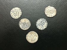 (B) Lot 5pc Aceh Tin Pitis Sultanate Netherlands East Indies Tin Coins 1800-1853