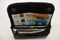 Leather Tobacco Pouch Organizer with Space for Money and Change Black