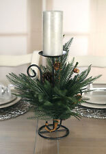 Christmas Candle Holder Table Centre Decor Fern Xmas Decoration 1 Candle