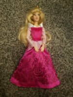 Sleeping Beauty Aurora Doll pink dress Disney Store