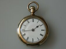 Beautiful Ladies Antique 14ct Rolled Gold LABRADOR OMEGA Pocket Watch Date c1895