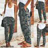 Women Camouflage Harem Pants Casual Loose Baggy Cargo Yoga Leggings Trousers