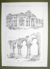 ARCHITECTURE PRINT : ITALY Arcade Vicenza & St. John Evangelist at Syracuse
