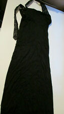 "NWT $725 MAISON MARTIN MARGIELA WOMENS BLACK ""TIE"" DRESS ITALY SIZE 38"