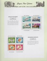 1976 PNG PAPUA NEW GUINEA Ships Thirties Bougainville Artifacts STAMP SET K-439