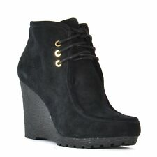 Michael Kors 40f3romess Womens Rory Bootie Black Suede Wedges.9.5 Gift