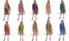 10 PC Wholesale Lot Indian Robes Silk Wraps Dress Women's Handmade Evening Gowns