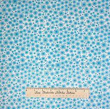 Lemon Grove Fabric - Robin's Egg Blue Starburst White - Timeless Treasures YARD