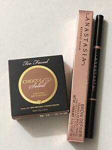 Anastasia Beverly Hills Brow Definer Chocolate & Too Faced Chocolate Matte Solei