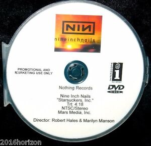 NINE INCH NAILS Starsuckers, Inc. Promotional Music Video DVD Marilyn Manson