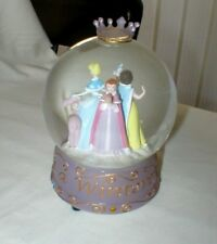Disney Princess Snow Globe Once Upon a Wintertime Snow White Belle Cinderella