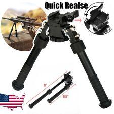 "Rifle Bipod Quick Detach Mount 6.5-9"" Adjustable Fit 20mm Picatinny Rail"