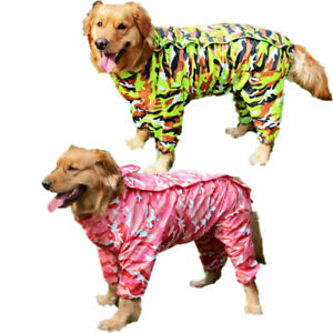 Pet Jumpsuit Waterproof Camouflage Dog Hooded Raincoat Puppy Cat Jacket Appreal