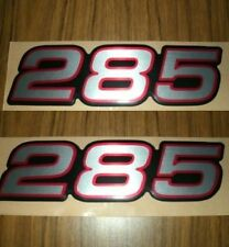285 Decals (Silver w/ Rd & Blk Outline)