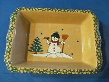 LTD Commodities Ceramic Baking Dish,Lasagna Pan  -   Winter/Snowman.