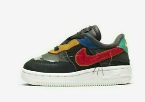 Nike Air Force 1 (TD) BHM QS CV2416-001 Black History Month Baby Toddler Shoes