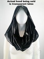 VEX LATEX TRANSPARENT YELLOW NUDE GAGA DRAPED HOOD TOP FETISH GUMMI RUBBER  $139