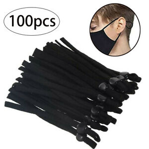 100Pcs Adjustable Elastic Cord Thread Band Strap Sewing Craft For Face Mask